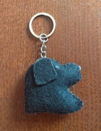 llavero perro azul
